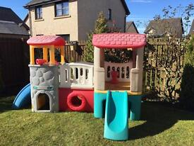 Childrens playhouse with slide