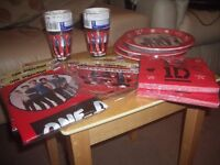 BBQ Supplies - Plates, Napkins, Plastic Table Covers & Happy Birthday Banners - everything £1