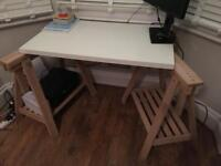 IKEA FINNVARD LINNMON Desk /Trestle with shelf