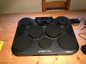 Drum kit. Tabletop electronic drum pads