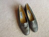 Used, Gabor Woven Antique Silver Low Wedge Shoes 6 1/2 for sale  Leamington Spa, Warwickshire