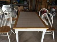 Kitchen table with 4 matching chairs for sale