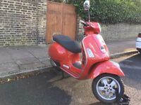 Vespa GTS 125, 2008 model, only 4194 miles Perfect for Summer! £1,650