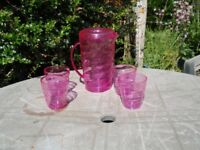 Bright Pink Drinks Set