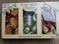 Teddy Bears Paint Your Picnic Tea Set