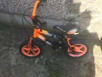 Children's Orange and Black Bike *Collection only