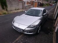 Mazda Rx8 231hp silver 19K miles low mileage full service history new clutch