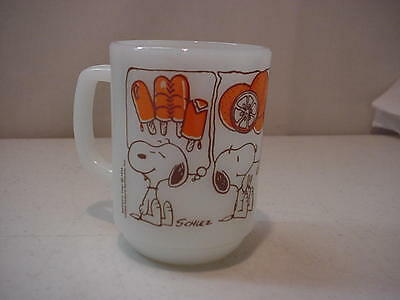 Vintage Schulz Fire King Snoopy 1958 Coffee Cup Mug Anchor Hocking Made In USA