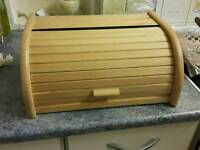 Wooden sliding over bread and food box new