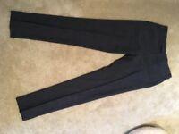 Men's formal pinstripe trousers from Reiss