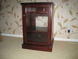 Stag Hifi Cabinet with glass fronted door and lift up lid