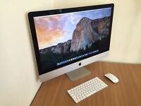 """iMac 5K, 27"""" inch, Latest Model, with all-flash storage and 30-month AppleCare warranty, LIKE NEW!"""