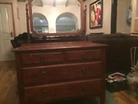 Dressing table and chest of drawers vintage retro antique