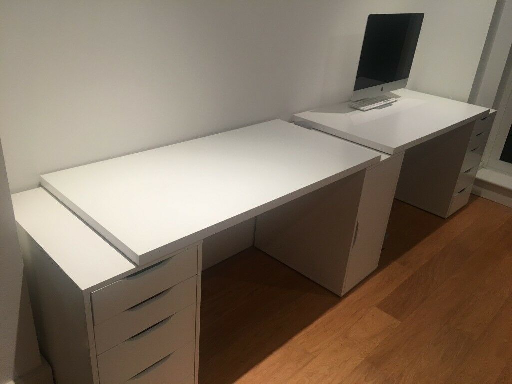 Ikea Linnmon Desk And Alex Drawers White In Wandsworth
