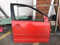 2007 VW Polo Driver Door Red colour
