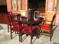 Stag Minstrel Mahogany Dining Table & 6 Chairs Extendable Table - Delivery Available