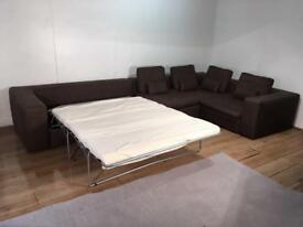 Habitat Modular Brown corner sofa bed with free delivery within 10 miles