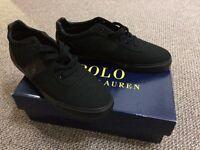 Ralph Lauren black Hanford trainers brand new size 10