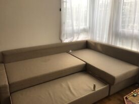 A wonderful 4-seater L-shape IKEA sofa-bed. King-size as bed