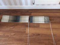 2 x matching roman blinds