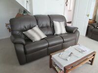 LARGE G-PLAN 'MISTRAL' BROWN LEATHER SOFA (TWO FOR SALE)