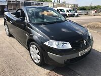 RENAULT MEGANE CONVERTIBLE CAB BLACK MOT AND SERVICE HISTORY