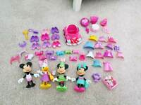 Minnie Mouse figures with outfits and accessories