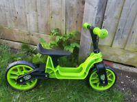Balance bike in apple green