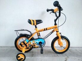 "(2747) 12"" APOLLO DIGBY Boys Girls Kids Childs Bike Bicycle + STABILISERS; Age: 3-4, 90-105cm"