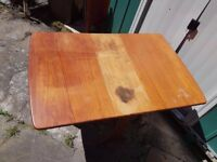 Dinning room drop leaf wooden table