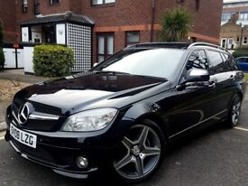 2008 MERCEDES C220 CDI SPORT AMG ESTATE AUTO-TIP-F1 PADDLE SHIFT FULL LOADED WITH PANORAMIC ROOF