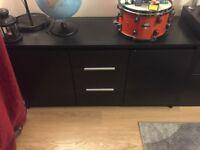 Large Sideboard Cabinet - Black Wood