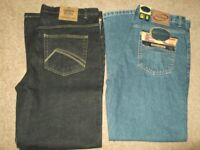 2 pairs good quality mens jeans (brand new) size waist 36in inside leg 31in.. £14.00 ovno