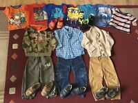 Lot of boy clothes 2-3y+5 pairs of shoes