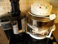 A once only bargain Halogen Cooker, Pulp Juicer, China Dishes.