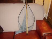 Fly fishing Whitlock Deluxe Landing Net with Wood Handle. Brand Spanking New.