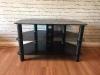 TV Stand, 3 Tier Glass