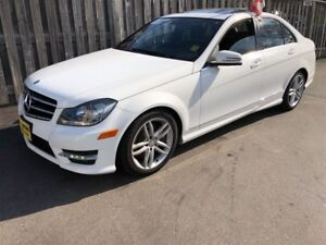 2014 Mercedes-Benz C-Class 300, Auto, Leather, Sunroof, AWD, 53,