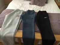 Three pairs of boys joggers size large