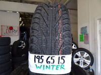 """**SALE***CHEAP 15"""" WINTER TYRES MOST SIZES AVAIL £35 EACH SUP & FITD OR £120 SET OF 4 TXT SIZE TO"""