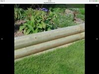 8 Brand New Rounded Mini Garden Sleepers for Garden Decoration.