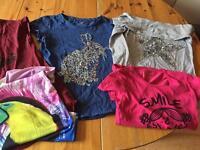 5 girls tshirts age 13yrs