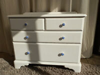2 over 2 Painted Chest of Drawers