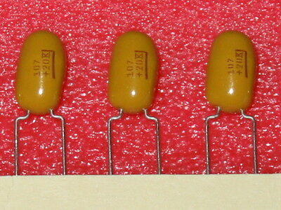 100uf 10 20v Radial Tantalum Caps Kemet T354m107k020 - 5 Pc Lots