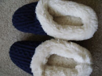 Dearfoam slippers ladies blue size small uk 3-4 (36-37) brand new