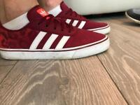 Red Adidas classic trainer uk size 9 1/2