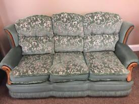 Suite of furniture 3 seater sofa and 2 chairs