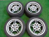 "GENUINE BMW 5 SERIES PARALLEL STAGGERED 17"" ALLOY WHEELS WITH TYRES"