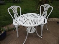 GARDEN / PATIO SET - TABLE AND 2 CHAIRS -- BISTRO SET --