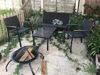 Garden furniture and fire pit 65 if gone today